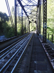 Bridge where Ryan encountered a train