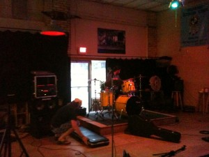 setting up at q spot aug 2011